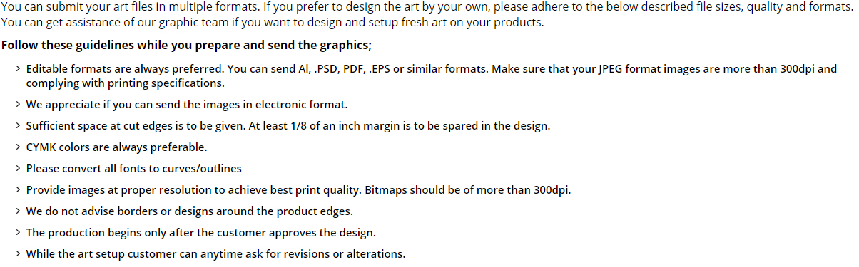 Art Requirements